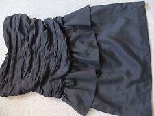 Little black mini dress - strapless, size 8 - rouched - Miss Selfridge VGC
