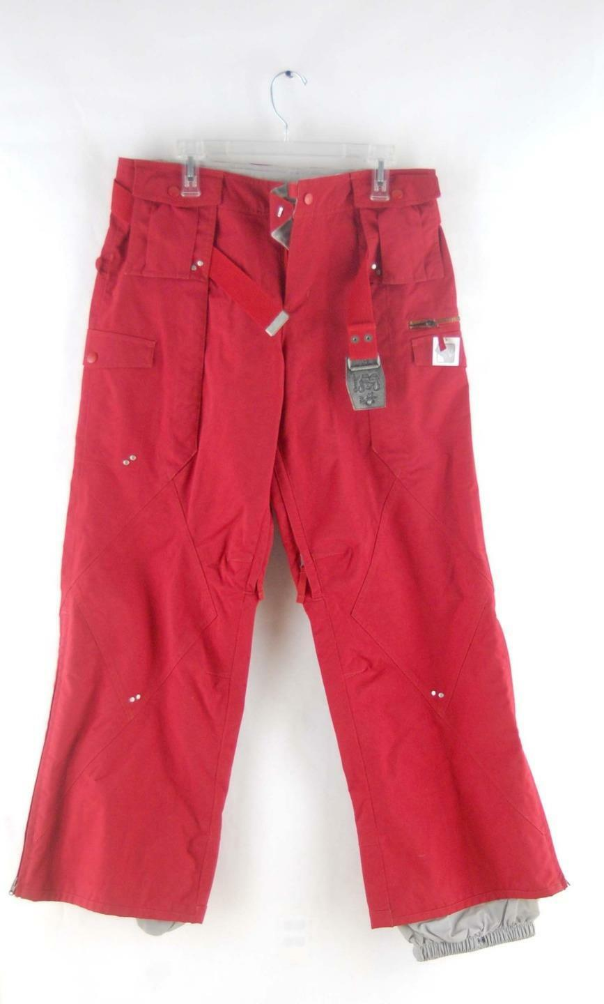 Burton Women's Red Zipper Vented Snowboarding Chastity Snowboarding & Ski Pants