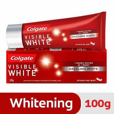 Colgate Visible White Toothpaste Sparkling Mint 100gm Teeth