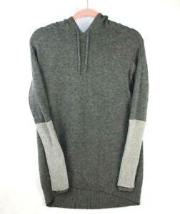 Athleta Merino Wool Nopa Hocahe Hooded Sweater Size Small Gray Hoodie 721694