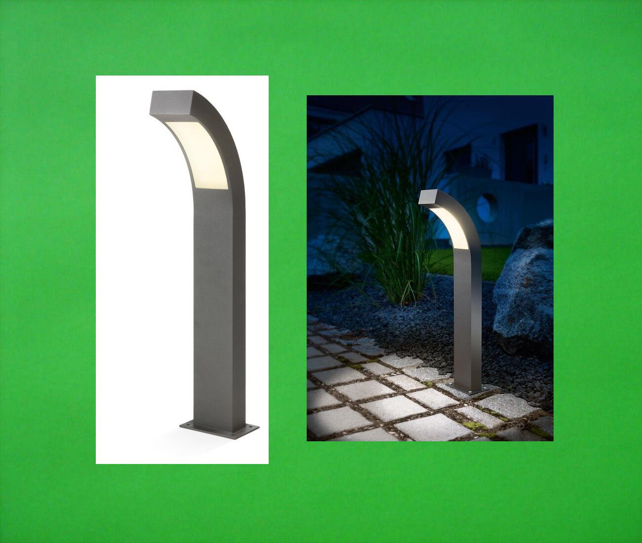 LED Luz de Jardín Lámpara de Bolardo Exterior De Pie 230 V