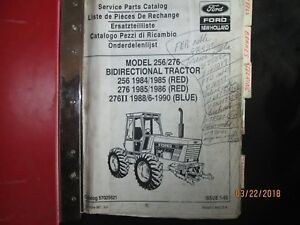Details about FORD NEW HOLLAND MODEL 256 / 276 Bidirectional Tractor Parts  Manual Catalog Book