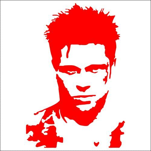 TWO Pack Sticker 2 Tyler Durden Fight Club Brad Pitt Vinyl Decal