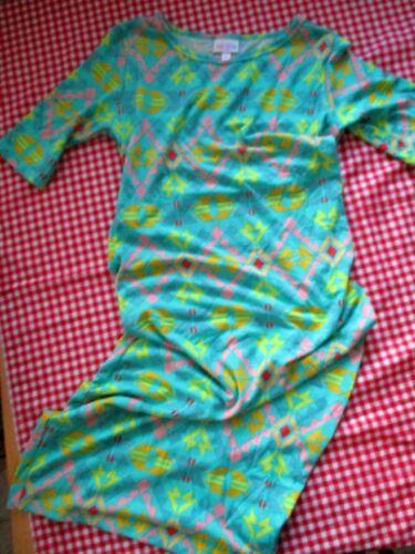 LuLaRoe Green Stretch Buttery Soft Dress sz xs