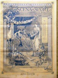 Scena-Sport-1-Settembre-1891-Centenario-di-Wolfang-Mozart-Koch-Marat-Tisi-Laschi