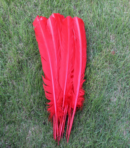 10-12 inches select Free shipping 10-100 PCS natural Turkey feather 25-30 cm