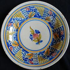 F1) Plat en céramique de TALAVERA / ESPAGNE Polychrome (ancien)