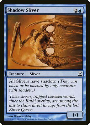 Vampiric Sliver Time Spiral NM Black Uncommon MAGIC GATHERING CARD ABUGames