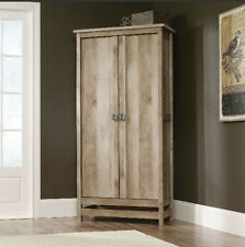 Storage Cabinets With Doors Cabinet Kitchen Organizer Pantry Wood Cupboard Tall