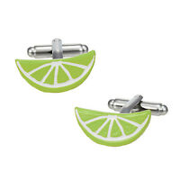 $165 Link Up Men's White Green Citrus Fruit Cufflinks Casual Dress Shirt Cuffs