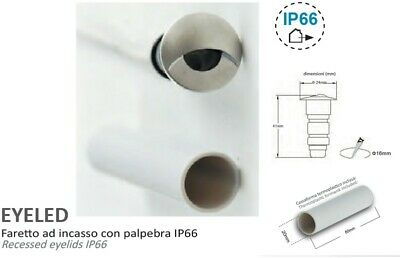 FARETTO LED INCASSO SEGNAPASSO IP66 SILVER 45° 1W 12V 3000K  CALDA EYELED//SI//BC