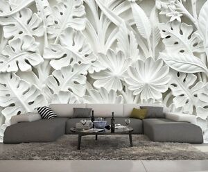 papier peint 3d trompe l oeil moderne photo murale 3d fleur nature 001 ebay. Black Bedroom Furniture Sets. Home Design Ideas