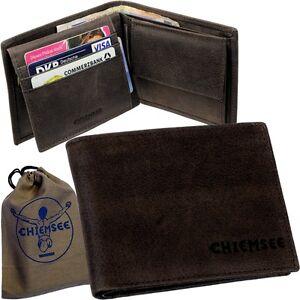 CHIEMSEE-Herren-Brieftasche-Geldboerse-Scheintasche-Geldbeutel-Portemonnaie-Leder