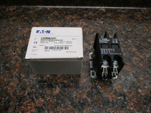 Eaton C25BNB230T Definite Purpose Contactor2 Pole30 AMPS24VAC