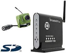 Green Feathers Wireless Casetta Per Uccelli Videocamera & scheda SD
