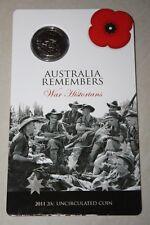 (PL) 2011 AUSTRALIA REMEMBERS WAR HISTORIANS 20C UNC COIN ROYAL AUSTRALIAN MINT