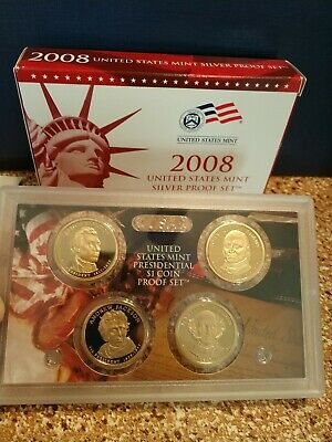 2008-s 1c-$1 Silver Proof Set