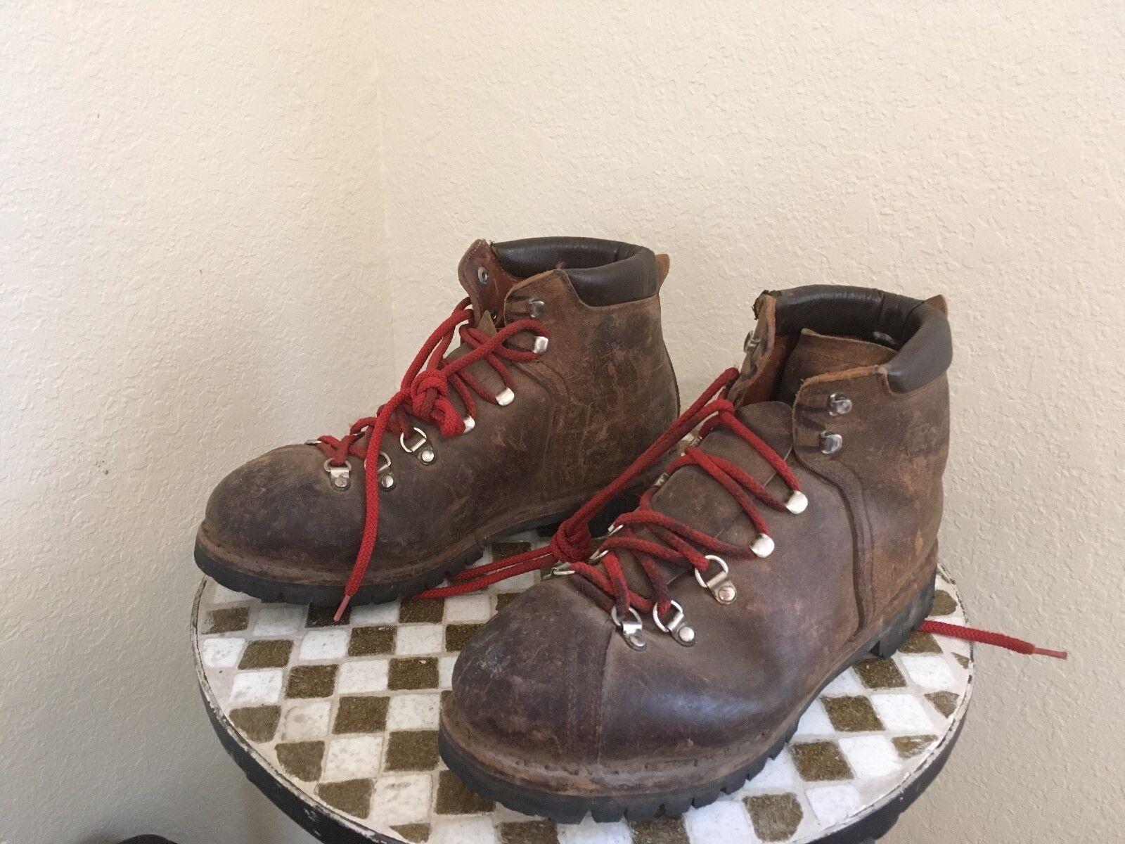 Envejecido RAICHLE Con Cordones botas Para Excursionismo vintagemountain 10 M