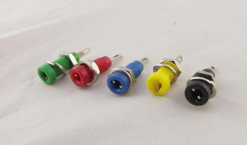 5pcs 2mm Amplifier Terminal Binding Post Banana Panel Mount Test Probe 5 Colors