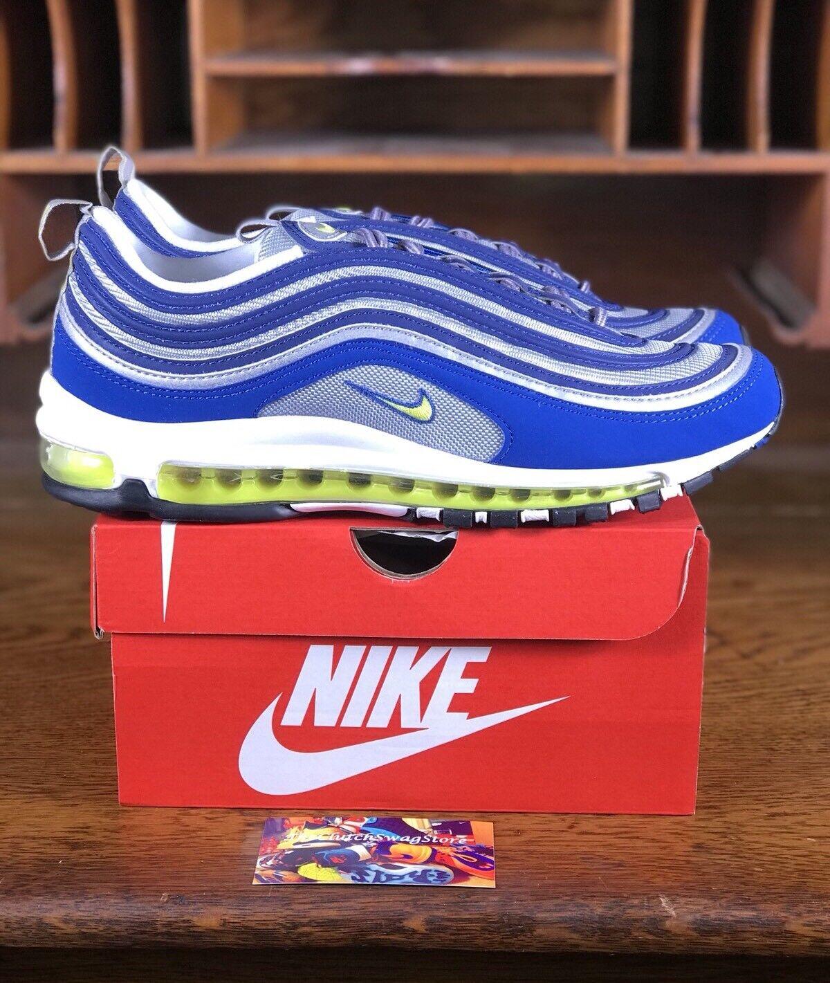 Nike Air Max 97 Atlantic Blue/Silver/White Mens Running Shoe 921826-401 Szs 8-15