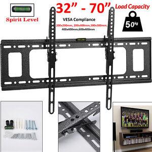 Tv Wall Bracket Mount Tilt Slim 32 37 40 50 55 60 70 Inches 3d Plasma Lcd Led 7625636870464 Ebay