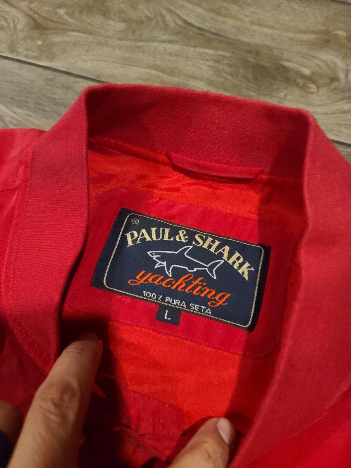 Paul Shark Yachting 100% Silk Buttoned Bomber Jac… - image 3