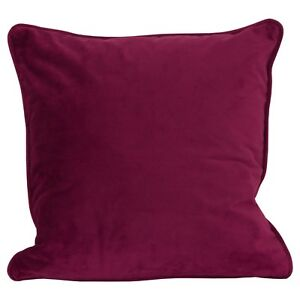 45x45cm-Luxurious-Velvet-Filled-Square-Cushion-Deep-Wine-Red-Pink