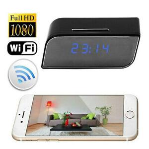 1080P-WIFI-Mini-Camera-Time-Alarm-Wireless-Clock-P2P-Security-Motion-Camcorder