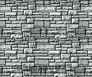 SET  OF FOUR (4) BLACK/WHITE COLOR  STONE WALL DECAL 1:6 TO 1:12 Scale Diorama