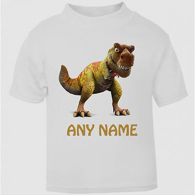 Cute Personalised T-Rex T-Shirt Girls Boys Top Childs Tee dinosaur age size gift