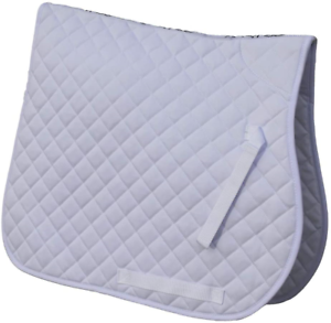 Full White Rhinegold Cotton Quilted Saddle Cloth
