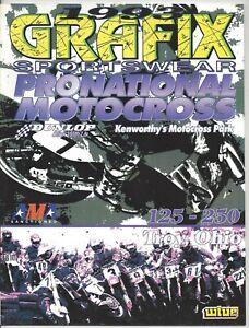 Vintage Kenworthy's Nationals 1993 AMA Motocross Program Jeremy McGrath