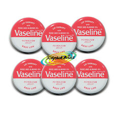 6x Vaseline Lip Therapy ROSY LIPS Pink Tin Pot 20g