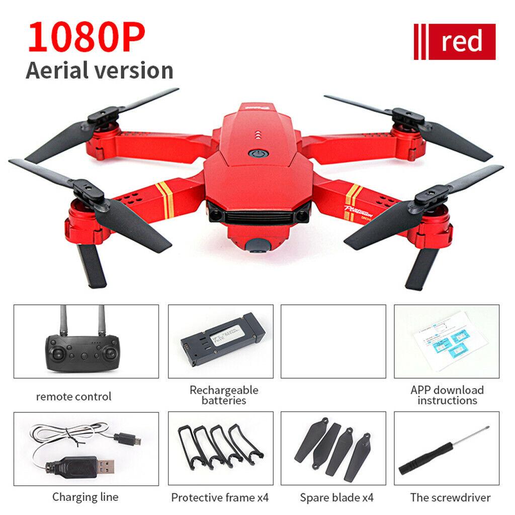 E58 Foldable Wifi FPV 1080P HD telecamera Drone Selfie RC RC RC Quadcopter w 14 Batteries d50cce