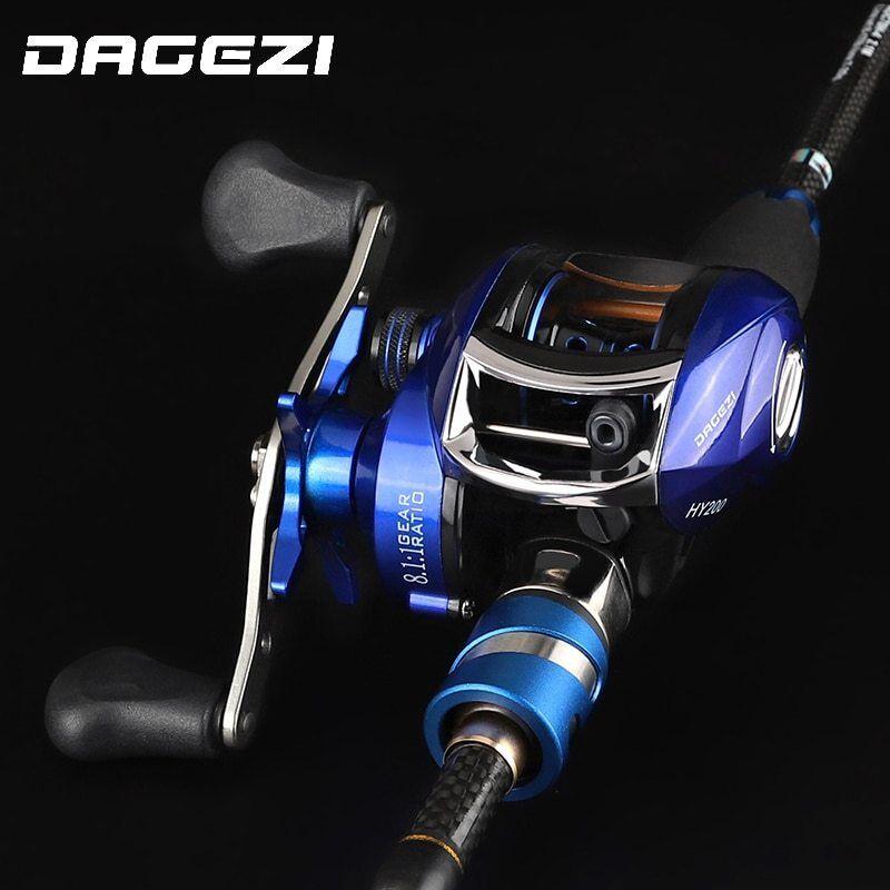DAGEZI Fishing Lure Rod Combo Baitcasting reel lure Rod  combo 1.8m 2.1m 2.4m  sale online discount low price