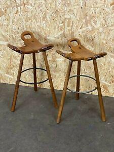 2x-50er-60er-Jahre-Bar-Stools-Barhocker-Attributed-Carl-Malmsten-Sweden-Design