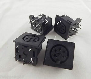 10pcs-DIN-6-Pin-rund-Jack-Female-Panel-Mount-PCB-Mount-Connector-Adapter