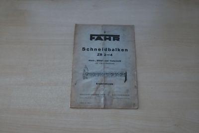 193031) Fahr Schneidbalken Zr 2-4 Ersatzteilliste 195? Professionelles Design
