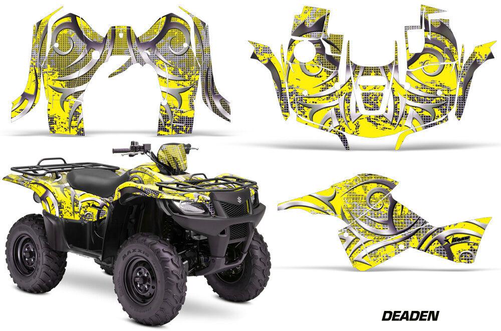 Atv Grafik Kit Sticker für Suzuki Quad 500 500 500 Axi 2013-2015 Deaden Gelb 2f678f