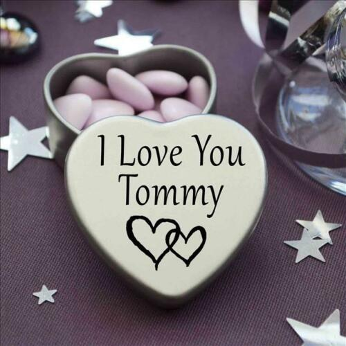 I Love You Tommy Mini Heart Tin Gift For I Heart Tommy With Chocolates
