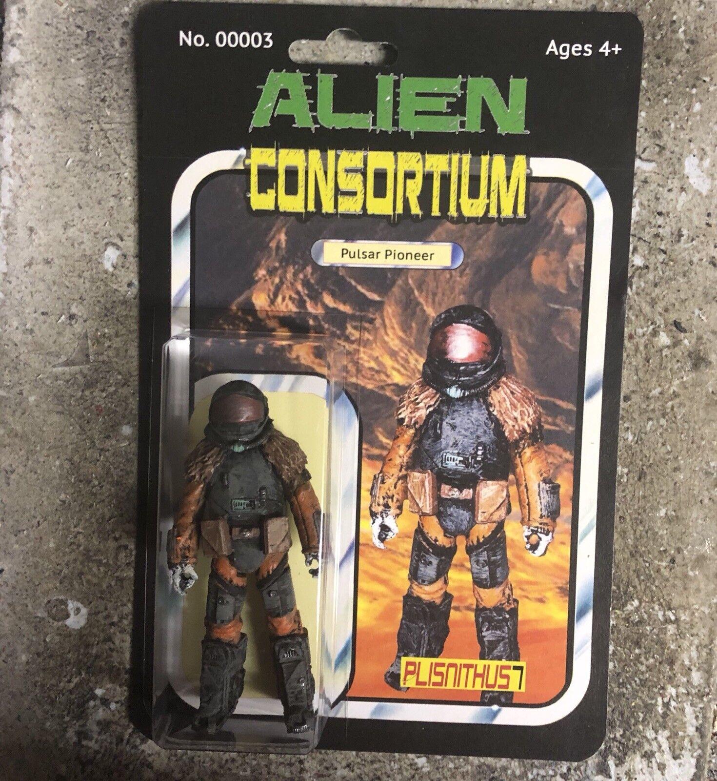 """Alien Consortium Pulsar Pioneer 3.75"""" Action Figure Star Force Alien Wars"""