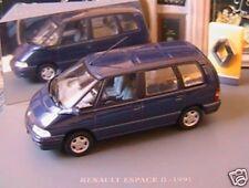 RENAULT ESPACE II 2 BLEU 1991 1/43 UNIVERSAL HOBBIES