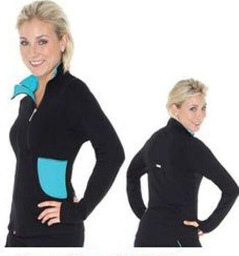 New Mondor 24804 Supplex Double Zipper Ice Skating Dress Jacket  Black / SCUBA