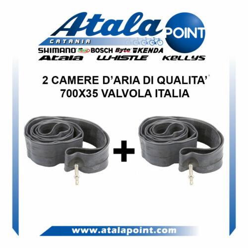 2 CAMERE D/'ARIA 700X35 BICI 28 VALVOLA ITALIA DI QUALITA/'.NUOVO