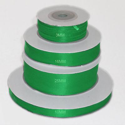 10mm Berisfords Emerald Green Grosgrain Ribbon 20m Reel