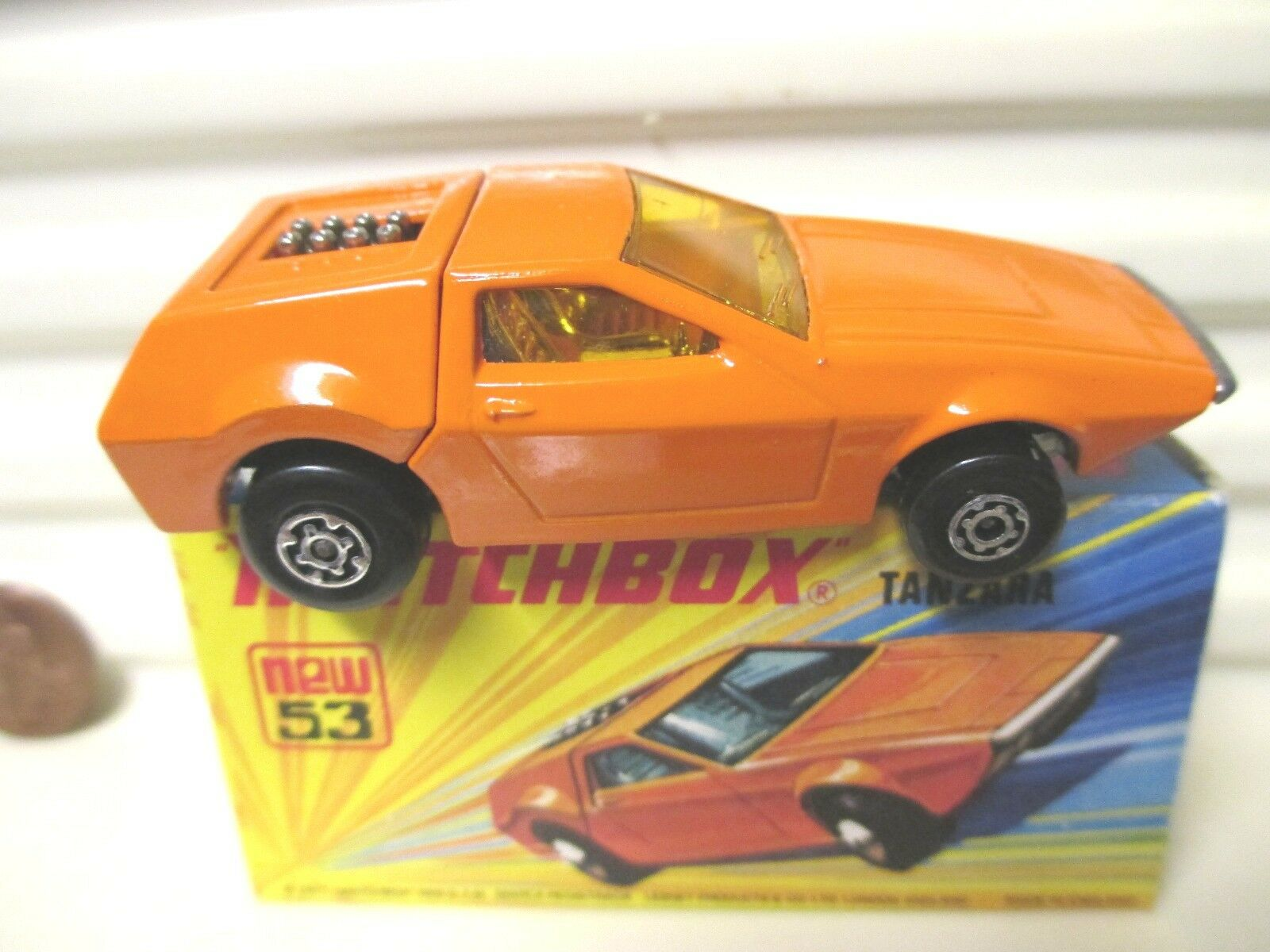 LESNEY MATCHBOX MB53B Orange TANZARA Amber Windows non peinte base de Menthe en Boîte C9