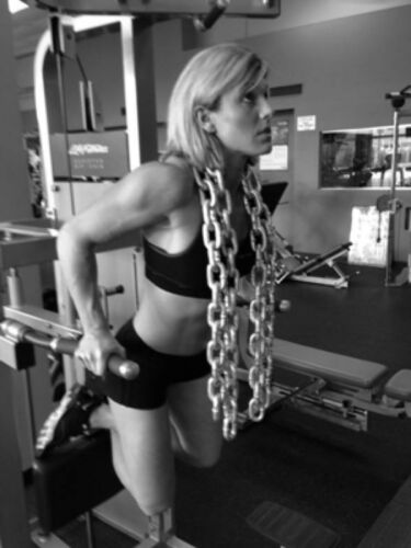 60lbs Heavy Lifting Workout Galvanized Power Crossfit Barbell Chains