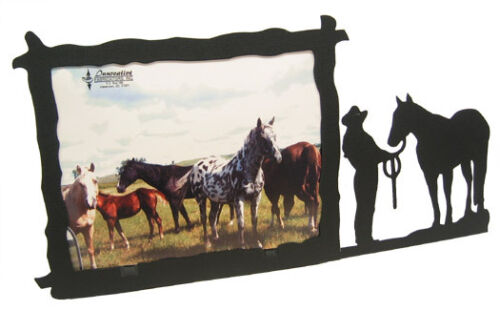 Female Halter Horse Showmanship 8x10H Black Metal Picture Frame