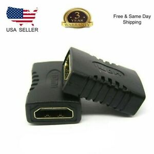 New-2x-HDMI-Female-to-Female-Coupler-Connector-Extender-Adapter-Cable-HDTV1080P