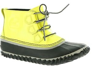 Dove Womens Sorel Out N About Waterproof Shoes Leather Fashion Rain Boots Zest
